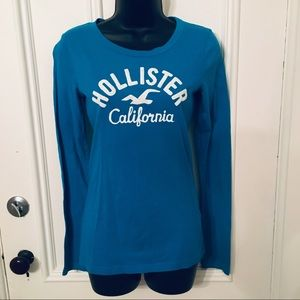 Hollister Graphic Blue Long Sleeve Small